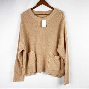 MADEWELL Crewneck Knit Pocket Sweater NWT